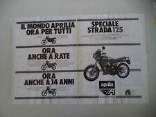 advertising Pubblicità 1985 MOTO APRILIA AS 125 R/TUAREG 50/ETX 350