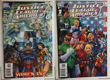 Justice League of America 2 Comic Lot (0 1) 1:10 J. Scott Campbell Incentive