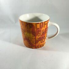 Starbucks Product of Guatemala Brown & Orange Coffee Mug Cup  2006 18 Oz