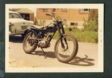 Vintage 1967 Photo Triumph Motorcycle & Shoebox Ford Car 409004