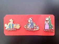 Disney Pin - Dsf - Toys For Tots - Set of 3 Pins! Eeyore, Belle & Mice - (New)