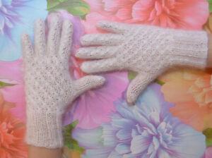 Russian Cashmere Mohair Angora Women gloves,warm gloves,handmade