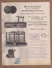 MANNHEIM, Brief 1908, Maschinen- und Waagen-Fabrik Butz & Leitz