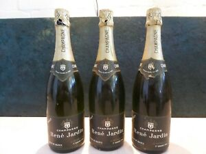 3 Flaschen Rene Jardin Champagne Blanc de Blancs Grande Reserve Brut je 0,75L