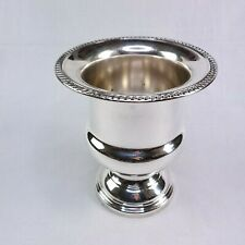 Silver By Boardman Champagne Wine Chiller Ice Silverplate Footed Vintage Large