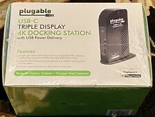 New listing New Plugable Udultc4K Usb-C 4K Triple Display Docking Station Dock