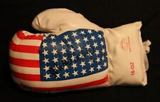 MICHAEL CARBAJAL OLYMPIC & FLY WT CHAMP AUTOGRAPHED SIGNED USA FLAG BOXING GLOVE