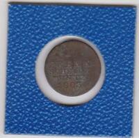 1 Pfennig Hannover 1803 Georg III 180° Stempeldrehung coin rotation