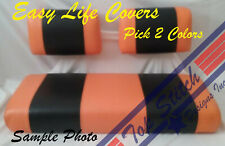 NEW Vinyl CLUB CAR DS Golf Cart Custom Front&Rear Seat Covers Combo Staple On