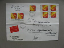 FINLAND, expresse cover to Germany 1981, block of 4, Int. year disabled persons