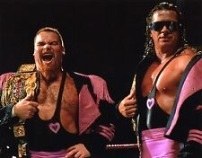 WWF PHOTO HART FOUNDATION WITH BELTS 8x10 WWE JIM THE ANVIL NEIDHART BRET HITMAN