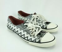 Converse All Star + Missoni Low Top Sz 8 Shoes Black, White, & Silver Basketball