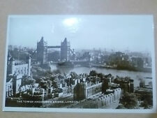 1958 Real Photo PostCard- THE TOWER AND TOWER BRIDGE, LONDON, 740+ STAMP