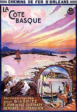 Affiche chemin de fer Orléans - La Côte Basque