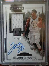 2017-2018 Panini Impeccable THADDEUS YOUNG JERSEY AUTO 50 /99 PACERS