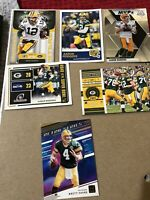 GB PACKERS QB 6 Card Lot. 5 Aaron Rodgers And 1 Brett Favre