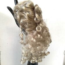 Hand Styled Doll Wig Global Doll Lady 11-12 Blonde Hair Long Curls No Bangs NOS