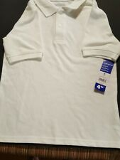 George Boys' White Short Sleeve School Uniform Polo Shirt Size M (8)