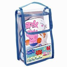 Peppa Pig 4 Bathtime Childrens/Kids Foam Bath Jigasaw Puzzle Toy