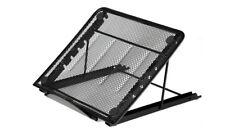 Black Mesh Ventilated Adjustable Laptop Tablet Stand Computer Cooling Holder