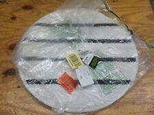 """Rubbermaid Commercial FGQ26100WH00 Microfiber Carpet Bonnet, 22"""" Length, White"""