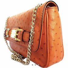 Michael Kors Hamilton Ostrich Bag In Orange BRAND NEW ORIGINALLY £195