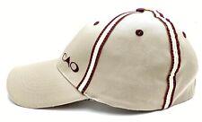 CAO Cigar Cigars Khaki Burgundy Stripe Fit Baseball RARE Golf Bar Pub Hat Cap