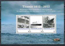 Netherlands souvenirsheet Titanic 1912-2012 **RARE**