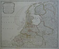 Original 1794 Laurie & Whittle Seat of War Map HOLLAND Zeeland Flanders Utrecht