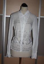 """M.F. GIRBAUD, High Use Bluse mit """"Spiegeln"""" und asymmetrischem Kragen, Gr. 38"""