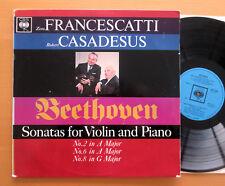 BRG 72220 FRANCESCATTI CASADESUS Beethoven Violin Sonatas 2 6 8 CBS MONO EX/EX