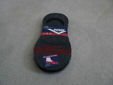 PONY Mens Black No Show Liner Boat Shoe Socks 4 PAIR BLACK/GREY