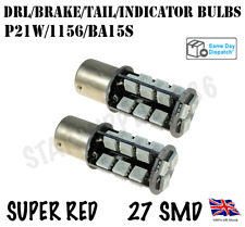 2X 1156/BA15S/P21W RED CANBUS STOP BRAKE TAIL LIGHT LED BULBS AUDI FORD BMW VW