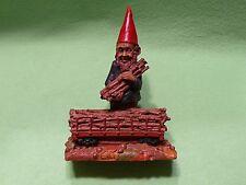 Tom Clark Lumber Jack Gnome. Model # 5041 Signed.1988.Embedded coin/token.