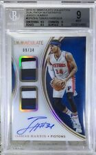 TOBIAS HARRIS 9/10 2015-16 Immaculate  OC Auto Dual Patch Pistons #DPATHA