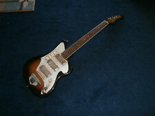 Vintage 1960's Teisco Three Gold Foil Pickup Electric Guitar! Japan, Ry Cooder!