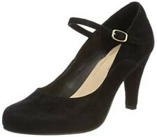Clarks Ladies Mary Jane Shoes DALIA LILY Black Suede UK 5.5 RRP £59