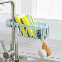 Kitchen Sink Faucet Sponge Soap Basket Cloth Drain Rack Storage Holder Shelf UK