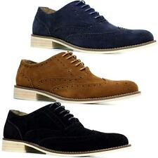 Mens Leather Suede Classic Formal Office Branded Wedding Fashion Brogues Shoes