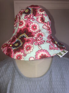 baby bucket hat 6-12 Months Baby Girl Double Sided Handmade Boutique Brand