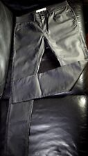 TOPMAN Spray on Skinny Thin Leather / Waxed Cotton Look Shiny Stretch Jeans 34R
