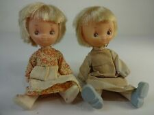 """(2) Knickerbocker BETSEY CLARK Hallmark Cards Character Doll 6"""" Vintage Cute"""