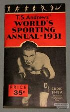 Original 1931 T.S.Andrew's World's Sporting Annual Book