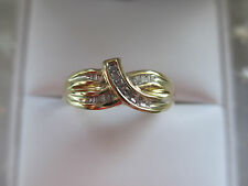Antique Russian Style Engagement 10k Yellow GOLD 0.30Ct Natural DIAMOND RING