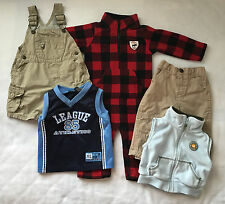 10 pcs 12M BOY BABY CLOTHES LOT Disney Carters Osh Kosh Athletic Works Y362