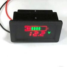 Waterproof 12V Lead-Acid Battery Status Capacity LED Display Indicator Voltmeter