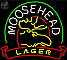 Moosehead Lager Deer Beer Neon Sign 17''x14'' From USA