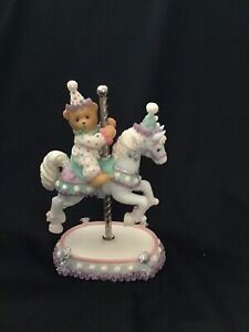 Cherished Teddies - Carousel Horse- ARCHIE - Clown Riding On Carousel Horse