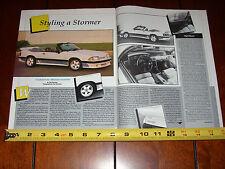 1989 SALEEN MUSTANG CONVERTIBLE - ORIGINAL 1989 ARTICLE