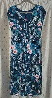 Joe Browns ~ Blue Floral Stretch Viscose Dress ~ Size 10 ~ NWT